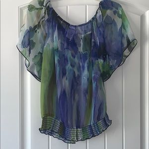 Wrapper Tops - Wrapper blouse, size extra large